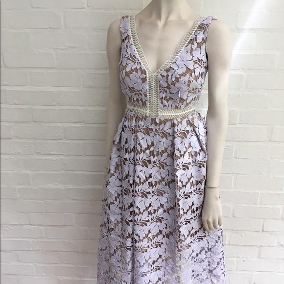 436a214ca99d Self-Portrait Dresses | New Authentic Selfportrait Lace Midi Dress ...